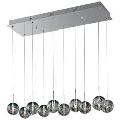 "ET2 Orb 33 3/4"" Wide 10-Light Bubble Glass Pendant Light"