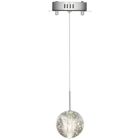 "ET2 Orb 4 1/2"" Wide Clear Bubble Glass Pendant Light"