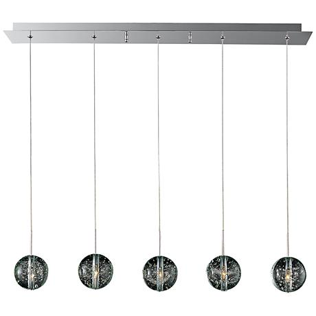 "ET2 Orb 33 3/4"" Wide 5-Light Bubble Glass Pendant Light"