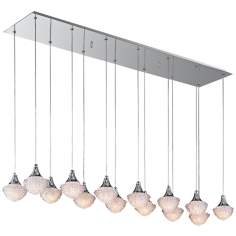 "ET2 Blossom 47"" Wide 14-Light Clear Crystal Pendant Light"