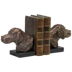Set of 2 Cast Iron Hound Dog Bookends