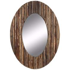 "Cooper Classics Loveland 35 1/2"" High Oval Wall Mirror"
