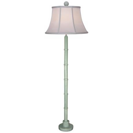 Green Jade Column Floor Lamp