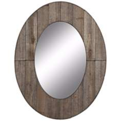 "Cooper Classics Mammoth 35 1/2"" High Oval Wall Mirror"