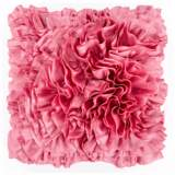 "Surya 18"" Square Dusty Coral Pink Ruffled Accent Pillow"