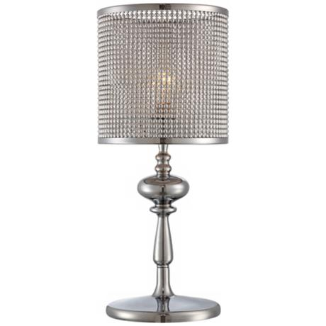 Possini Euro Design Big Diamond Shade Chrome Accent Lamp