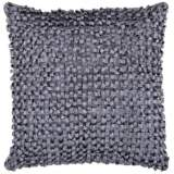 "Surya Looped 18"" Square Charcoal Gray Throw Pillow"