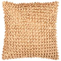 "Surya Looped 18"" Cumin Gold Throw Pillow"