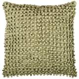 "Surya Looped 18"" Square Fern Green Throw Pillow"