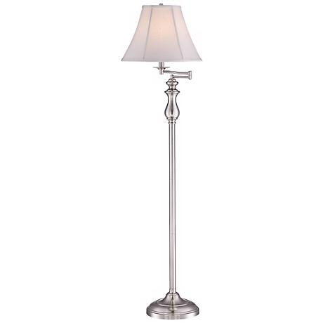 Quoizel Stockton Brushed Nickel Swing Arm Floor Lamp