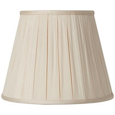 Pleated Sand Silk Empire Lamp Shade 6x10x8 (Spider)