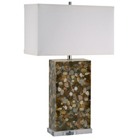 Brown River Rock Acrylic Table Lamp