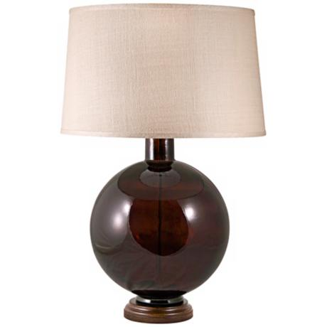 Mocha Recycled Glass Table Lamp