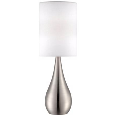 "Teardrop 21"" High Brushed Steel Table Lamp"