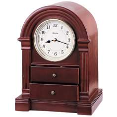 "Anniston Traditional 11"" High Bulova Mantel Clock"