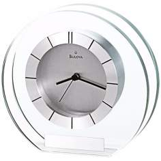"Accolade 6"" Wide Bulova Table Clock"