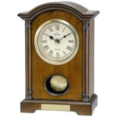 "Dalton 9 1/2"" High Westminster Melody Bulova Table Clock"