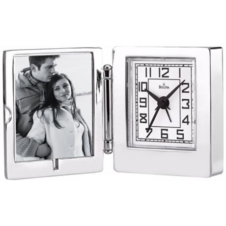 "Voyager 2 1/4"" High Picture Frame Bulova Alarm Clock"