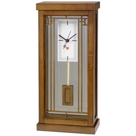 "Gale Bookcase 16 1/4"" High Bulova Mantel Clock"