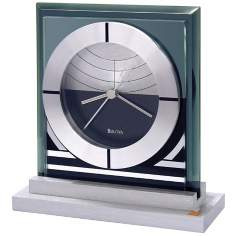 "Loggia Gate 5 1/2"" Wide Bulova Desk Clock"