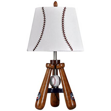 Kidd Valley Baseball Bat and Ball Tripod Accent Lamp