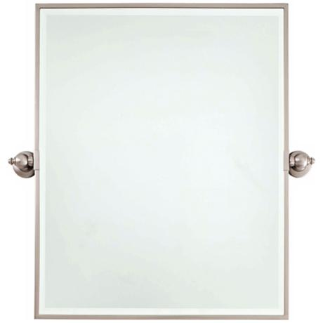 "Minka 30"" High XL Brushed Nickel Bathroom Wall Mirror"