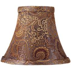 Purple Paisley Silk Blend Bell Shade 3x6x5 (Clip-On)