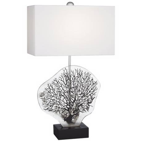Natural Fossil Coral Table Lamp