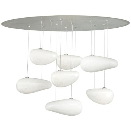 "LBL Constellation 36"" High Opal Glass Chandelier"