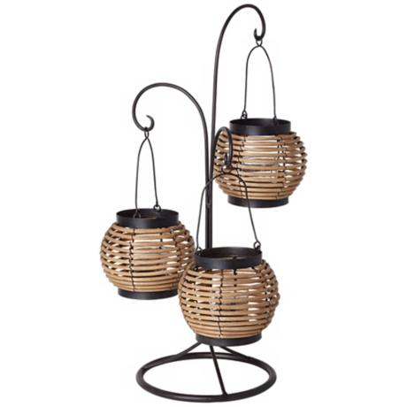 Three Tier Hanging Basket Candle Holder