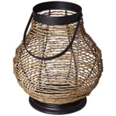 Large Basket Style Pillar Candle Holder