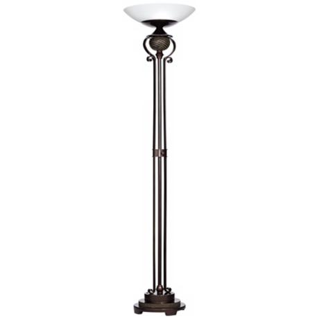 Ribbed Font Light Blaster™ Torchiere Floor Lamp