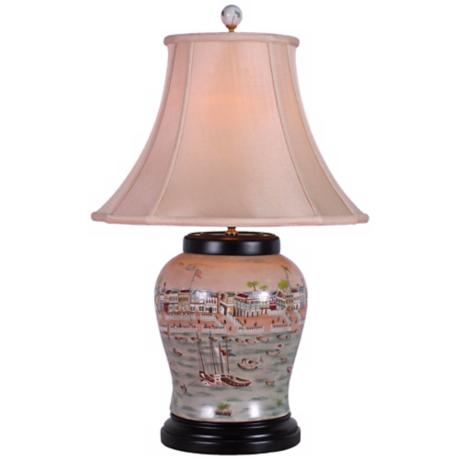 Hang Porcelain Wine Urn Table Lamp