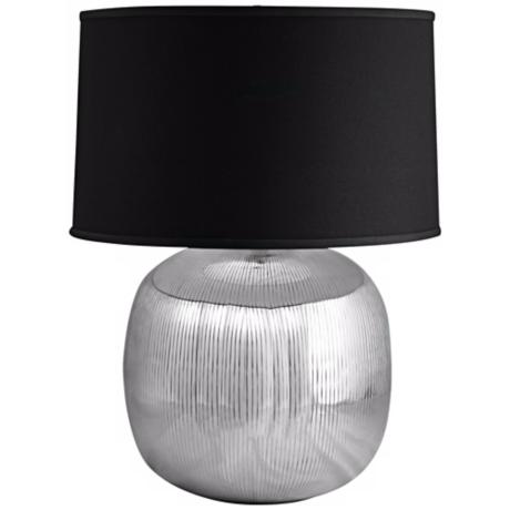 Serrated Aluminum Orb Table Lamp
