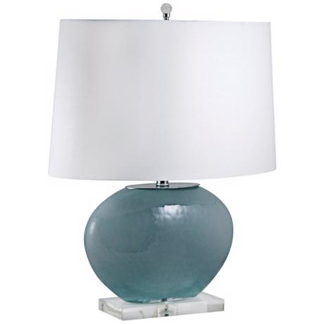 Gray Oval Glass Table Lamp