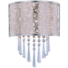 "Maxim Rapture White 9 3/4"" Wide Satin Nickel Wall Sconce"