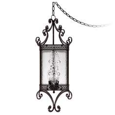 "Roman Bronze 27 1/2 "" High 3 Light Swag Lantern"