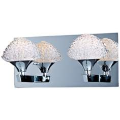 "ET2 Blossom 12 1/4"" Wide Crystal Bathroom Light Fixture"