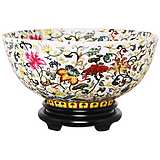 Multi-Floral Painted Porcelain Bowl with Base