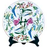Floral Porcelain Decorative Plate with Stand