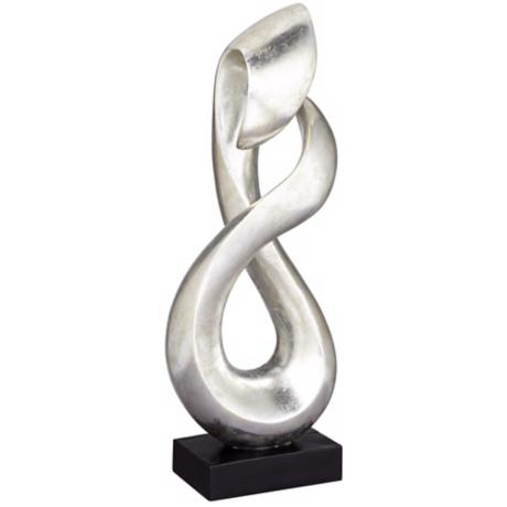 Silver Leaf Open Infinity Sculpture