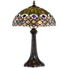 Fish Scale Tiffany Style Accent Lamp