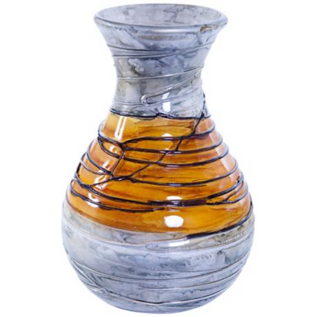 Lemon Twist Round Decorative Art Glass Vase