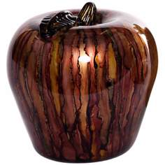 Multicolor Art Glass Apple Accent