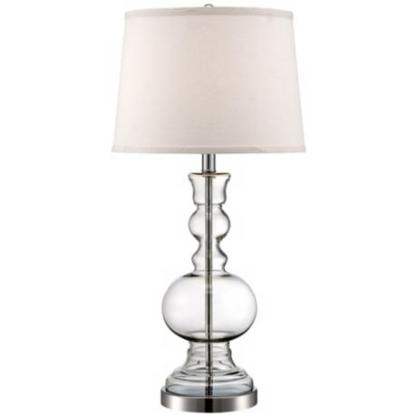 Clear Glass Vase Table Lamp