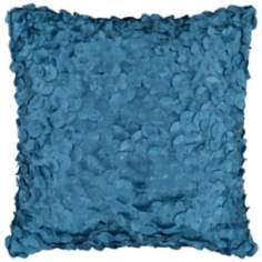 "Surya Circle Applique 18"" Square Pacific Blue Accent Pillow"