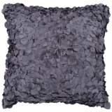 "Surya Circle Applique 18"" Square Charcoal Gray Accent Pillow"