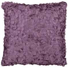 "Surya Circle Applique 18"" Square Grape Purple Accent Pillow"