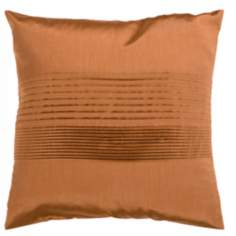 "Surya Center Pleated 18"" Copper Throw Pillow"