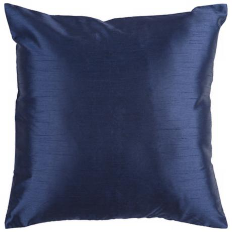 "Surya 18"" Square Navy Throw Pillow"